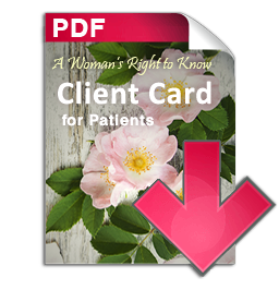 Patient client card PDF